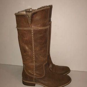 Timberland brown knee boots tall SZ.6.5